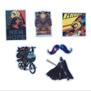 💕3/$25 6 spacey stickers Star Wars, Pacific Rim